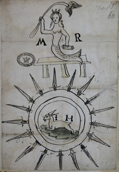 Mary, Queen of Scots, as a mermaid, 1567 (Kew, The National Archives)